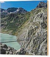 Triftsee Suspension Bridge - Gadmen - Switzerland Wood Print