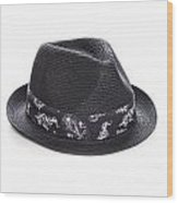 Trilby Hat Wood Print by Colin and Linda McKie