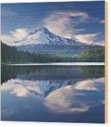 Trillium Lake Escape Wood Print