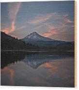 Trillium Twilight Wood Print