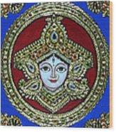 trinetra Durgaji Wood Print