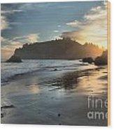 Trinidad Beach Reflections Wood Print