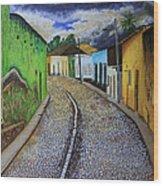 Trinidad Cuba Original Oil Painting 16x12in Wood Print