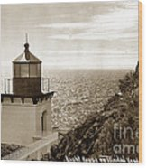 Trinidad Head Light Humboldt County California 1910 Wood Print