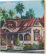Trinidad House  No 1 Wood Print