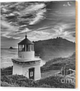 Trinidad Light In Black And White Wood Print by Adam Jewell