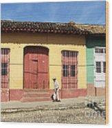 Trinidad Streets Cuba Wood Print