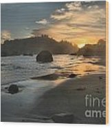 Trinidad Sunset Reflections Wood Print