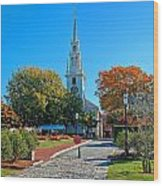 Trinity Church In Queen Anne Square In Newport Wood Print