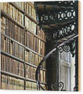 Trinity Collage Library Dublin Wood Print