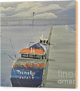 Trinity Long Line Fishing Trawler At San Remo  Wood Print
