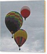 Trio Of Balloons 2 Wood Print