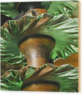 Trio Of Blades Wood Print