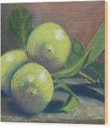 Trio Of Lemons Wood Print