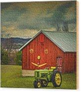 Trip To The Happy Farm Wood Print