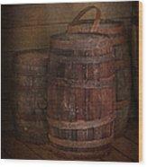 Triple Barrels Wood Print by Susan Candelario