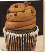 Triple Chocolate Cupcake Wood Print