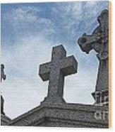 Triple Crosses Wood Print