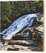 Triple Falls II Wood Print