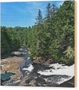 Triple Falls North Carolina Wood Print