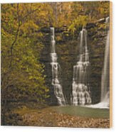 Triple Falls Wood Print