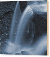 Triple Plunge Twilight Waterfall Wood Print
