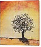 Tripping Tree Wood Print