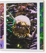 Triptych - Christmas Decoration - Featured 3 Wood Print