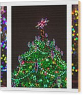 Triptych - Christmas Trees - Featured 3 Wood Print