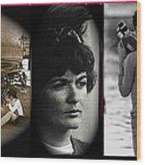 Triptych Jackie Sharkey Center Panel Cinco De Mayo Nogales Sonora 1969-2011 Wood Print