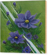 Floral Triptych 1 Wood Print
