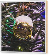 Triptych - Traffic Lights Christmas - Featured 2 Wood Print