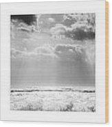 Triptychon Dramatic Sea 3 Wood Print