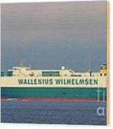 Tristan Cargo Ship - Puget Sound Seattle Washington  Wood Print
