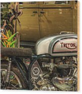 Triton Motorbike Wood Print