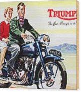Triumph 1953 Wood Print