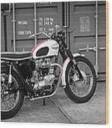 Triumph Bonneville T120 Tt Wood Print