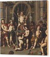 Triumph Des Bacchus Wood Print