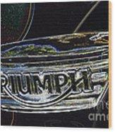 Triumph 2 Wood Print