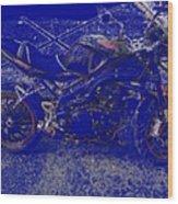 Triumph In Blue Wood Print