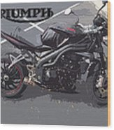 Triumph Motorcycle Wood Print