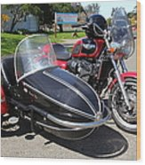 Triumph Motorcycle With Sidecar 5d28099 Wood Print