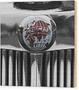 Triumph Roadster Emblem Selective Color Wood Print