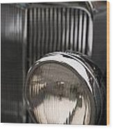 Triumph Roadster One Headlight Wood Print
