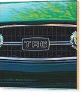 Triumph Tr 6 Grille Emblem Wood Print