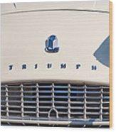 Triumph Tr3 Grille Emblem Wood Print