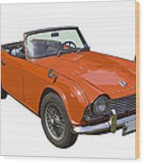 Triumph Tr4 - British - Sports Car Wood Print