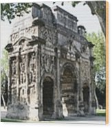 Triumphal Arch - Orange Provence Wood Print