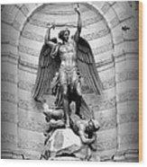Triumphant Saint Michael Wood Print