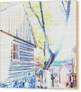It Was A Sunny Day In The Old City  Wood Print